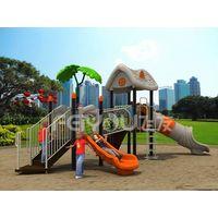 China children plastic playground equipment funny slide thumbnail image