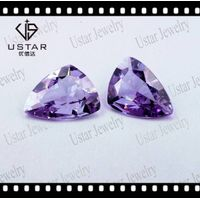 Amethyst color synthetic cubic zirconia for jewelry