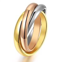Titanium Stainless Steel 3mm Sigle Girl Women Finger Rings Creative 3 Colors HOT