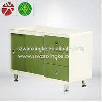 Long cabinet with three drawers and sliding door cabinet