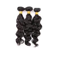 Natural weave virgin hair brazilian natural weave remy human virgin hair extension
