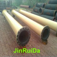 Wear Resistant Rubber Lined Steel Pipeline