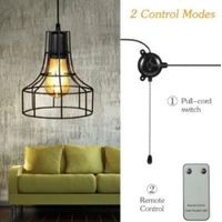 Solar Powered Energy Pendant Light Outdoor Sensitive Light Remote Control Pull-cord Switch IP44 Wate