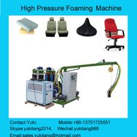 PU foaming machine for car part and motorcycle seat