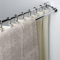 double extensible shower curtain rod thumbnail image