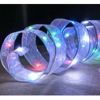 Organza Ribbon copper wire Light string - 20 LED - Battery Operated .