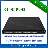 10Gigabit Data Center Switch UK6600-44HC with 44 10G SFP+ ports 1 10/100/1000Base-T port
