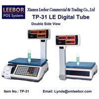 Digital Price Computing Scale, POS Supermarket Retail Thermal Printer Counting Weight Desktop Scales thumbnail image