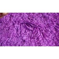 purple anti-slip mongolian lamb fur plate