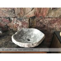 Kalala Grey Marble Bath Sink Stone Wash Basin