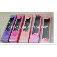 paper material hair extensions packaging tube box for hair extension