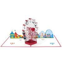 New ferris wheel Pop Up Card Handmade Birthday greeting Card/ 3d Pop up card/ Pop Up Birthday Card thumbnail image