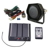 100W Police Siren Kit 20 Tones 12V with Siren Box Speaker Wireless Remote Microphone