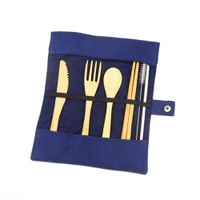 Bamboo Flatware Camping Cutlery Set thumbnail image