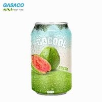 Gasaco Brand 330ml HQ Coconut Water- Fresh Coconut Water With Guava Flavours