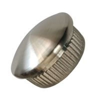 Stock supply investment casting 316 stainless steel knurled pipe cap steel pipe cap thumbnail image