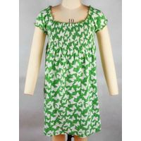 Children's fashion long sleeve round collar dress with printing