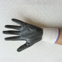 Chinese manufacturers wholesale nitrile coating industrial safety gloves