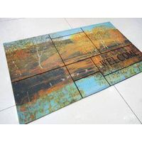 Scenic puzzle pattern rubber door/out door mat