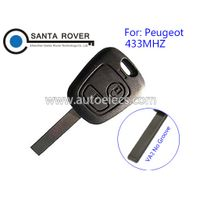 Keyless Entry For Peugeot 307 Remote Key 2 Button 433mhz Electronic 46Chip inside VA2 blade thumbnail image