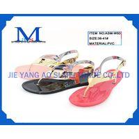 Ladies PVC fashion slippers for 2014