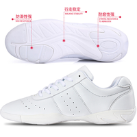 2015 latest high quality pure white durable cheerleading shoes wholesale thumbnail image