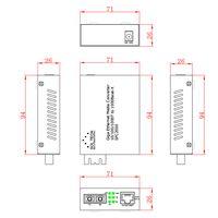 Gigabit Ethernet Converter 10/100/1000Mbps TP 1 Port to 1000BASE-LX Single-mode SC type thumbnail image