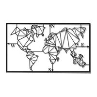 World map metal sculpture for wall decoration thumbnail image