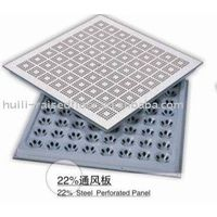 Steel perforate floor