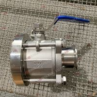 Stainless Steel Manual Industrial 3PC Tank Bottom Valve