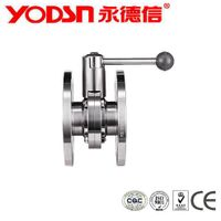 Stainless Steel Diary  3PC Sanitary butterfly valve