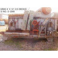 USED KINKI HORIZONTAL TYPE 4FT X 12FT VIBRATING SCREEN S/NO. S-3548 (2.5 DECKS) WITH MOTOR thumbnail image