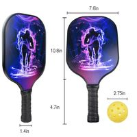 Carbon fiber Supplier Manufactures OEM High-quality Amazon Hot Selling Graphite Pickleball Paddle