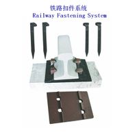 Dog spike fastening system for wooden sleeper used in North America thumbnail image