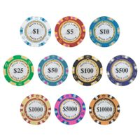 Cheap custom blank clay round poker chips
