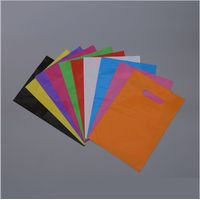 Color customized shopping bag with die cut handle HDPE/LDPE/LLDPE 100% virgin