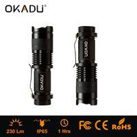 Okadu ZQ01 AA/14500 Rechargeable Flashlight 230lm LED Flashlight 1 CREE Q5 EDC Mini Flashlight