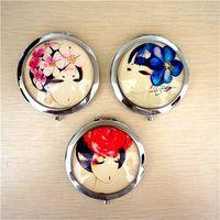compact mirror /fashion design 4C print crystal pocket