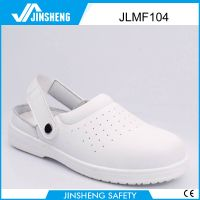 Summer sandal grain leather safety shoes