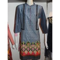 Blue Embroidery Kurta Top For Women