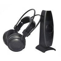 3 channels RF wireless stereo headphones for silent disco party