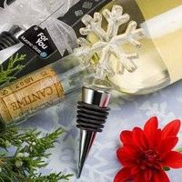 Murano Glass Collection Snowflake Design Bottle Stopper Favors thumbnail image