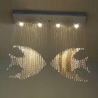 square good quality and competitive price of modern crystal ceiling light 8026-4 thumbnail image