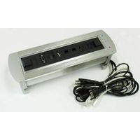 multi-function electric flip power data gromment silver