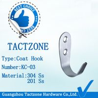 Wholesale Toilet Partition Hardware Stainless Steel Clothes Hook