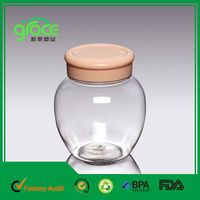 A23 chinese cheap price clear round plastic food container with screw lid