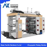 4/6/8 Color Flexography Printing Machine for plastic, paper.non woven