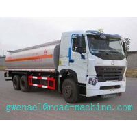 Oil Tanker Truck SINOTRUK HOWO A7 6x4 371 hp with 25000L , EURO II/III Emission