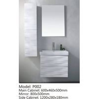 pvc painted bathroom cabinet/bathroom vanity P002