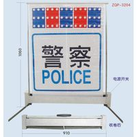 Folded Police Checking Panel